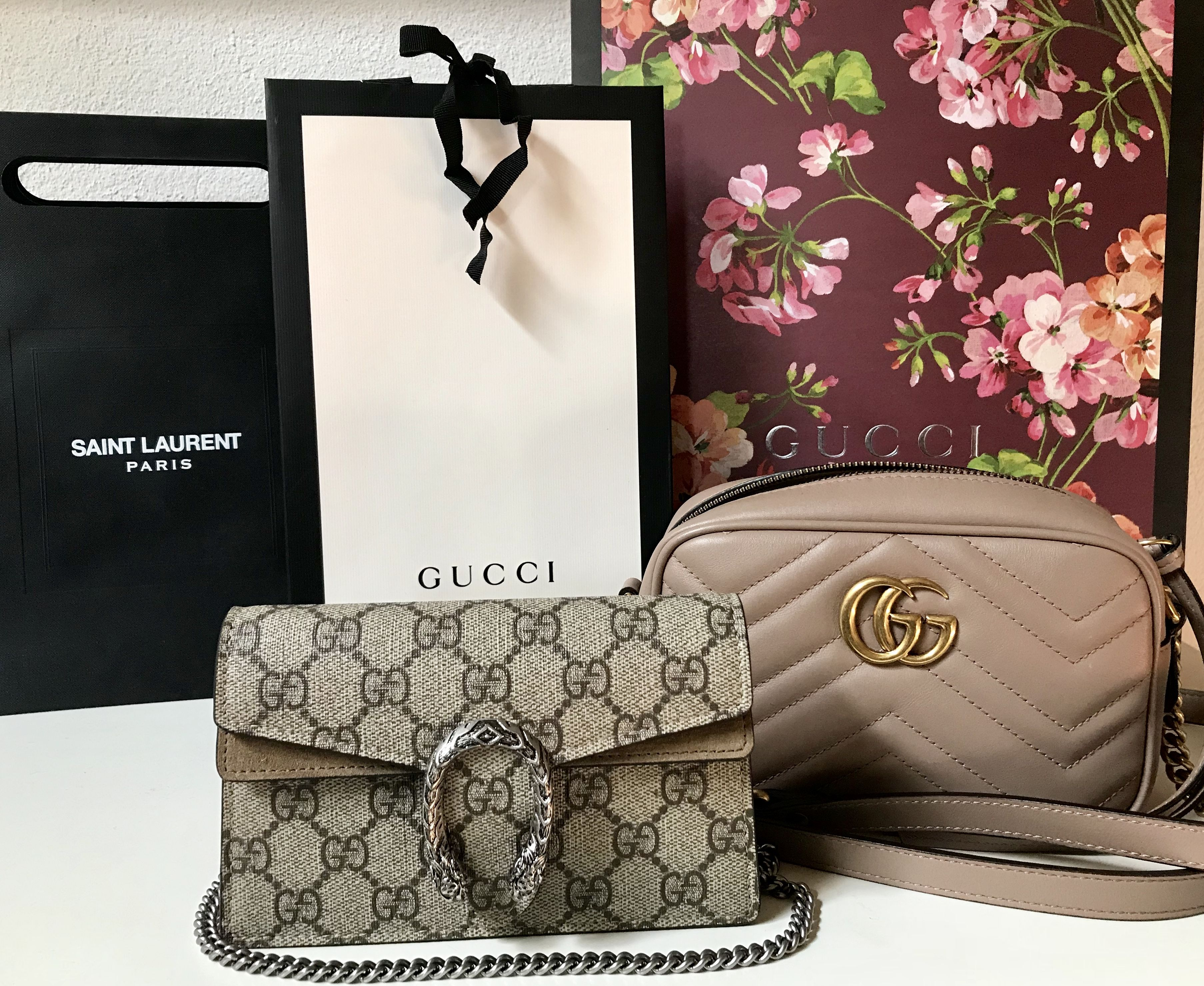 e8ef7fd0f Gucci Babes❤ Dionysus GG Supreme super mini bag & GG Marmont matelassé mini  bag