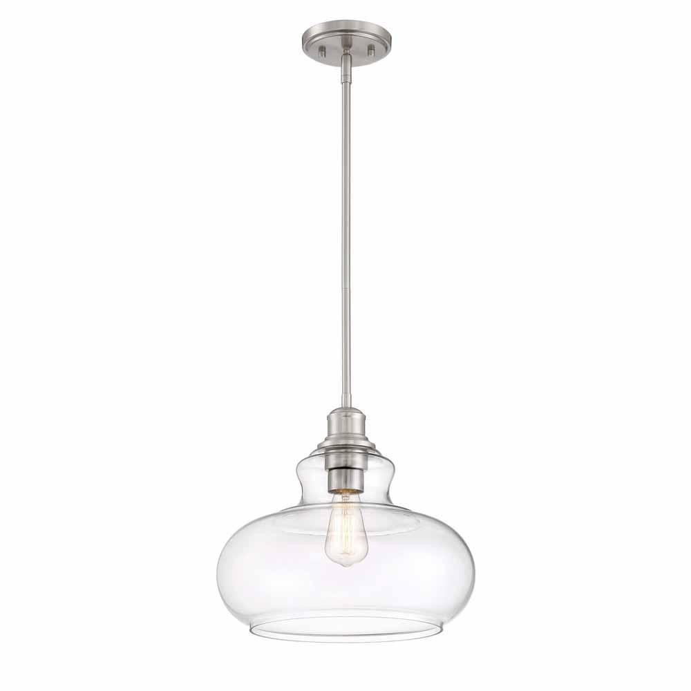 Wonderful Cordelia Lighting 1 Light Brushed Nickel Hanging Pendant 3534 35   The Home
