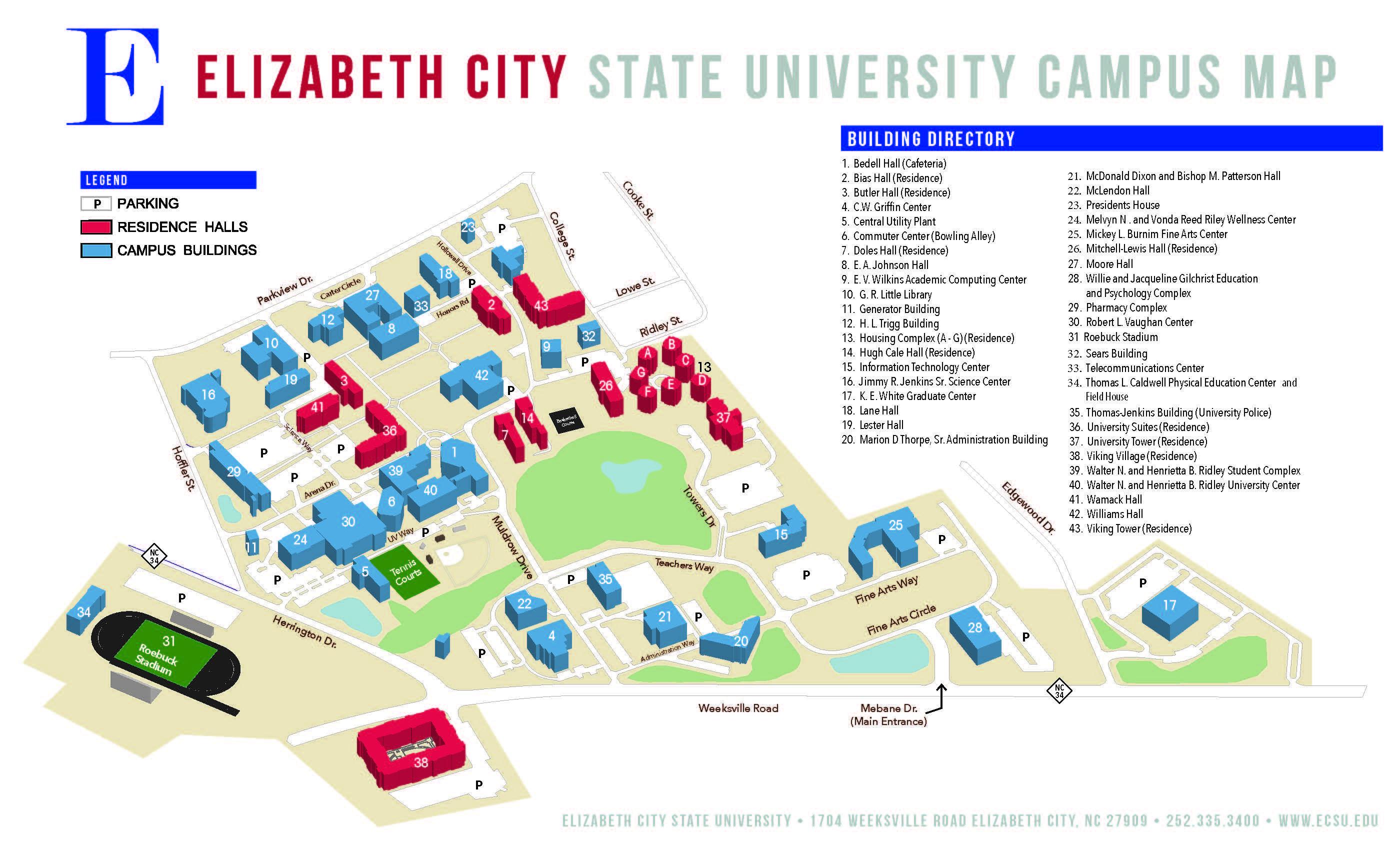 eastern connecticut state university map Ecsu Campus Map eastern connecticut state university map