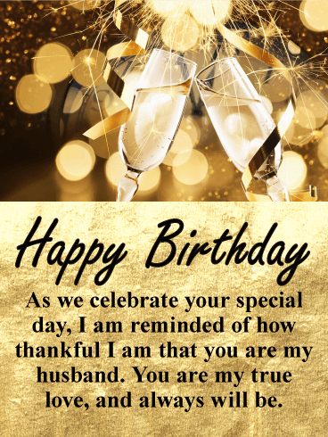 Glittering Gold Happy Birthday Wishes Card For Husband Birthday Greeting Cards By Davia Happy Birthday Wishes Cards Birthday Wish For Husband Spiritual Birthday Wishes