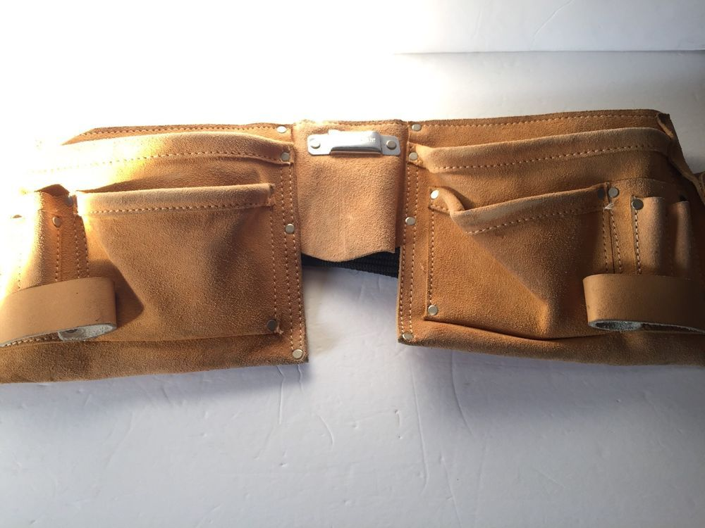craftsman leather tool belt. tool belt construction carpenter craftsman electrician work leather apron pouch
