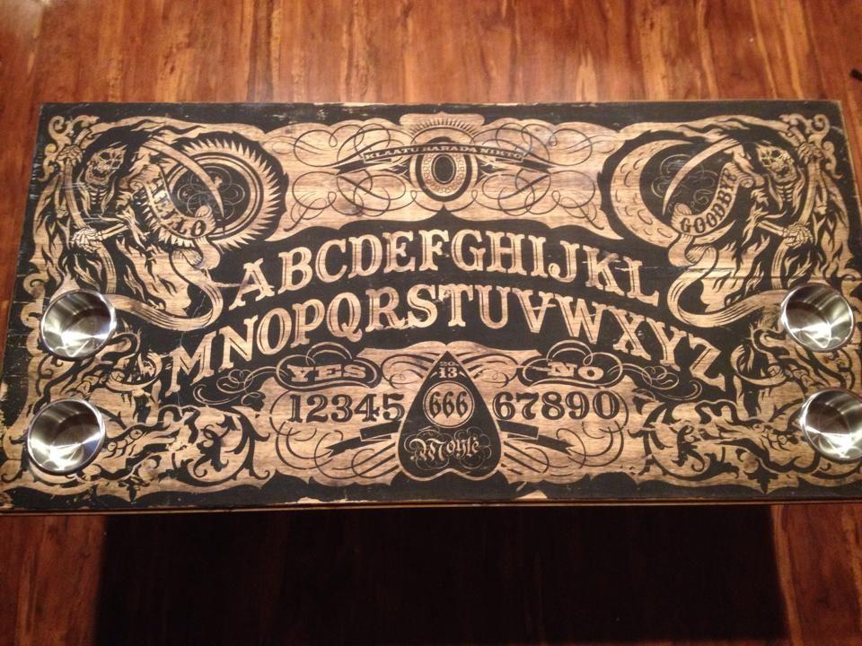 ouija coffee table | ouija, diy coffee table and board