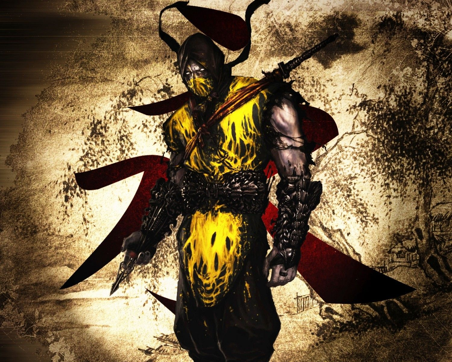 Mortal Kombat Scorpion Hd 1500x1200 iWallHD Wallpaper