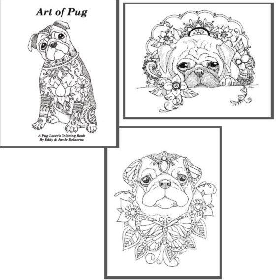 Pin By Janet Rutkowsky On Coloring Pugs Pinterest Pugs Coloring