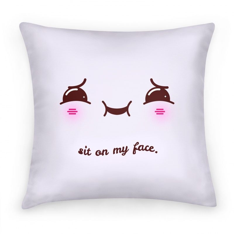 Funny Pillow Case Designs: Sit on My Face   Pillows and Pillow Cases   HUMAN   Sew    ,