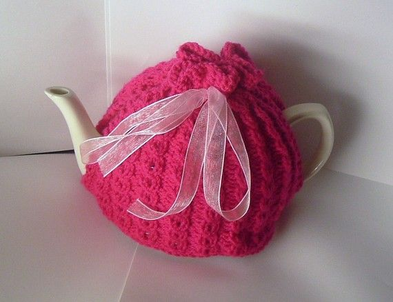 Pretty Pink Tea Cozy by thesequinnedsheep on Etsy, £25.00