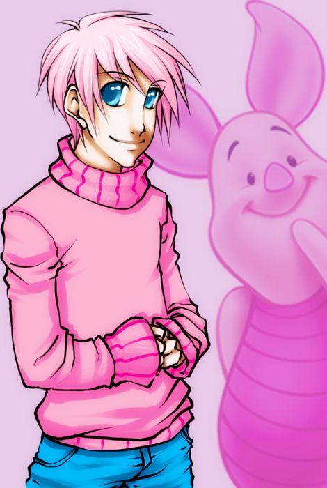 Piglet Human Art Anime Style Disney Dream