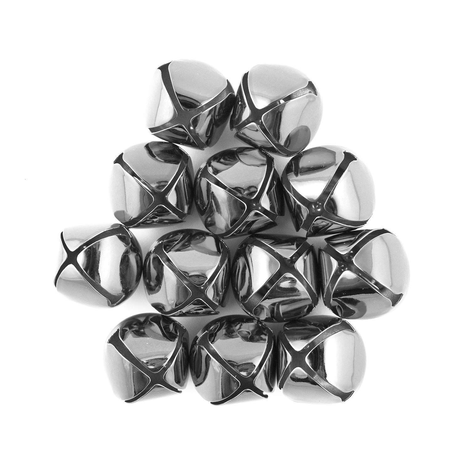 1 inch 25mm Silver Large Craft Jingle Bells Bulk Wholesale