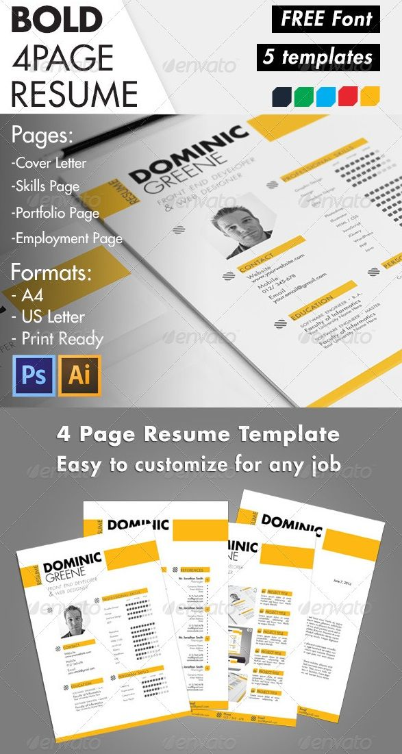 Awesome resumecv templates graphic design 56pixels awesome resumecv templates yelopaper Choice Image