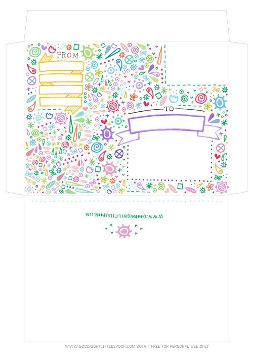 Free Download Envelope Template  Bianca Jagoe  Printable Free