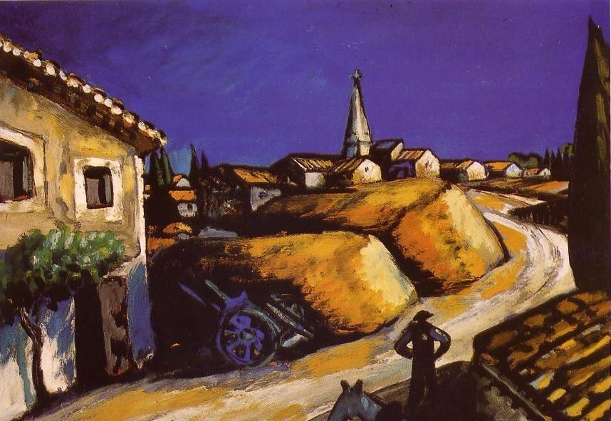 Auguste Chabaud - Meules près de la maison - 1912