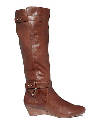 Bandolino Shoes, Ajem Tall Wedge Boots - Shoes - Macy's