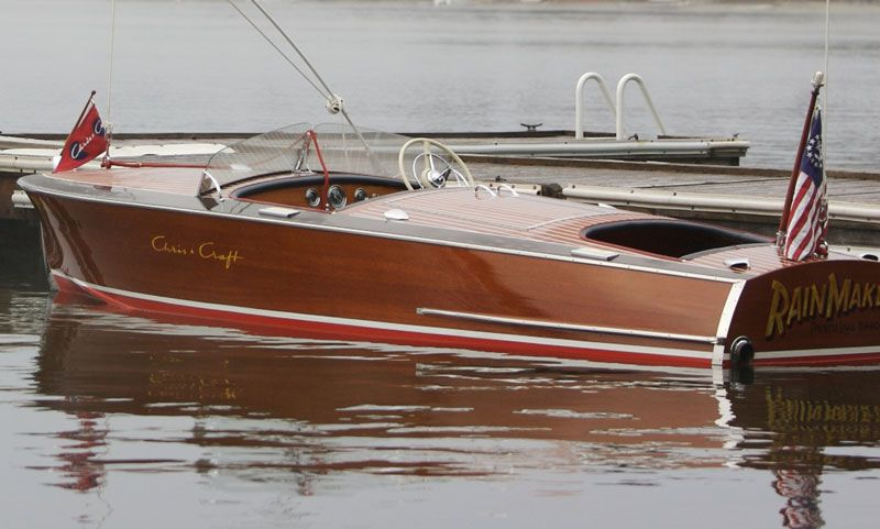Classic wood boat for sale chris craft racing runabout for Classic chris craft wooden boats