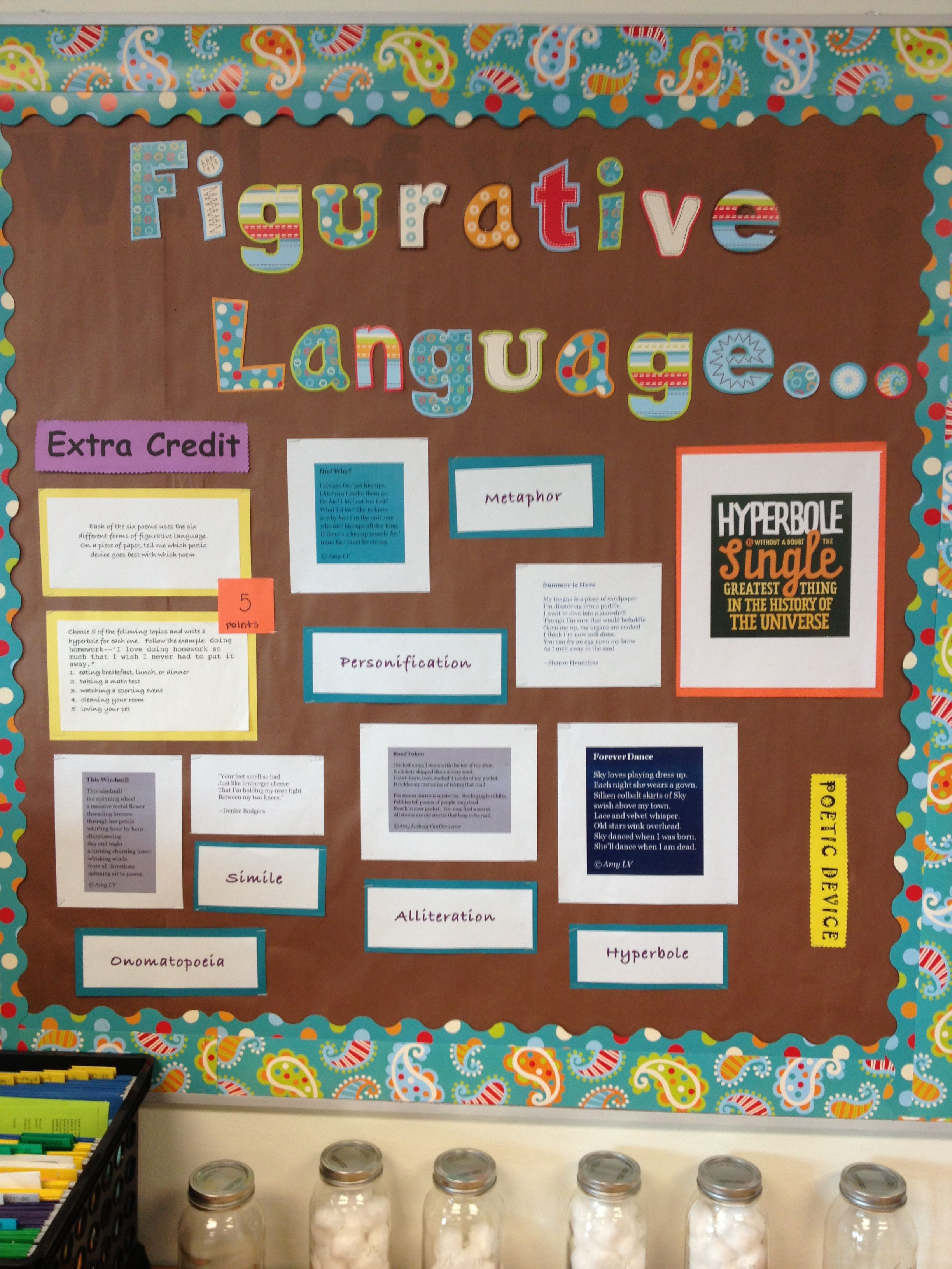 I Put Together This Bulletin Board Today For Poetry Month