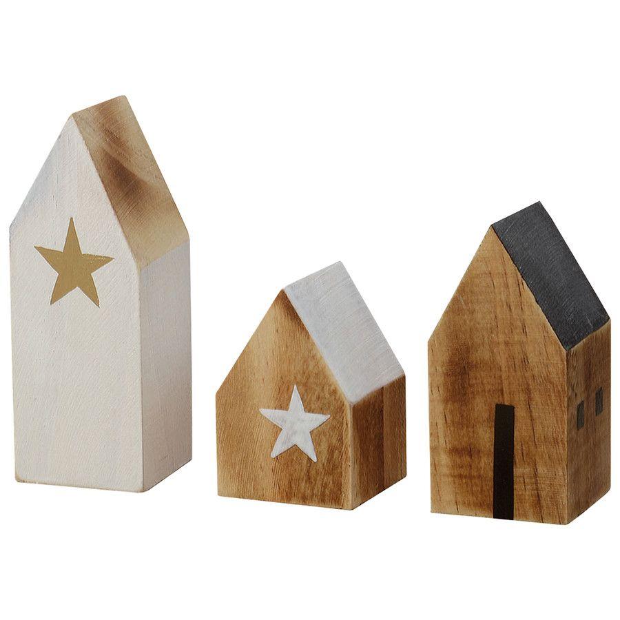 Weihnachtsdeko holzh user christmas decoration xmas for Petite maison de noel decoration