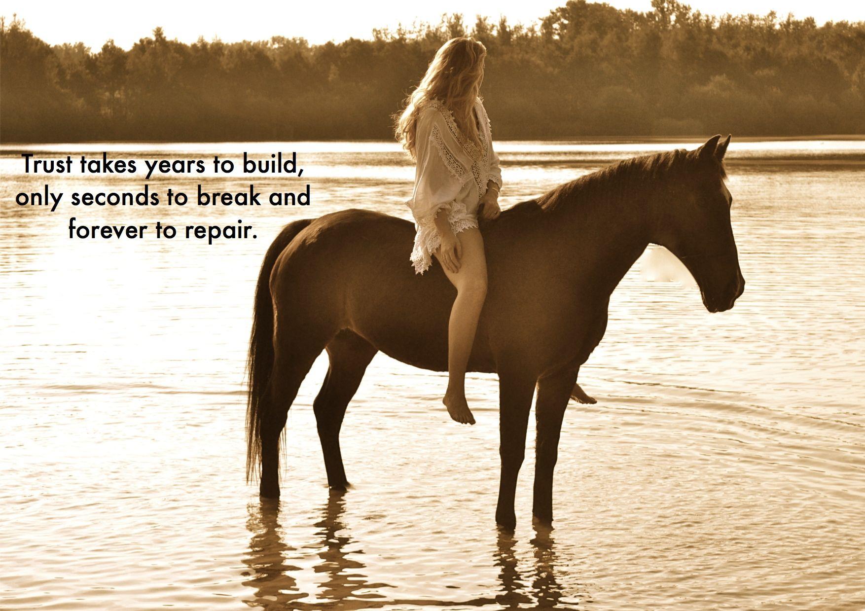 horse, girl, trust