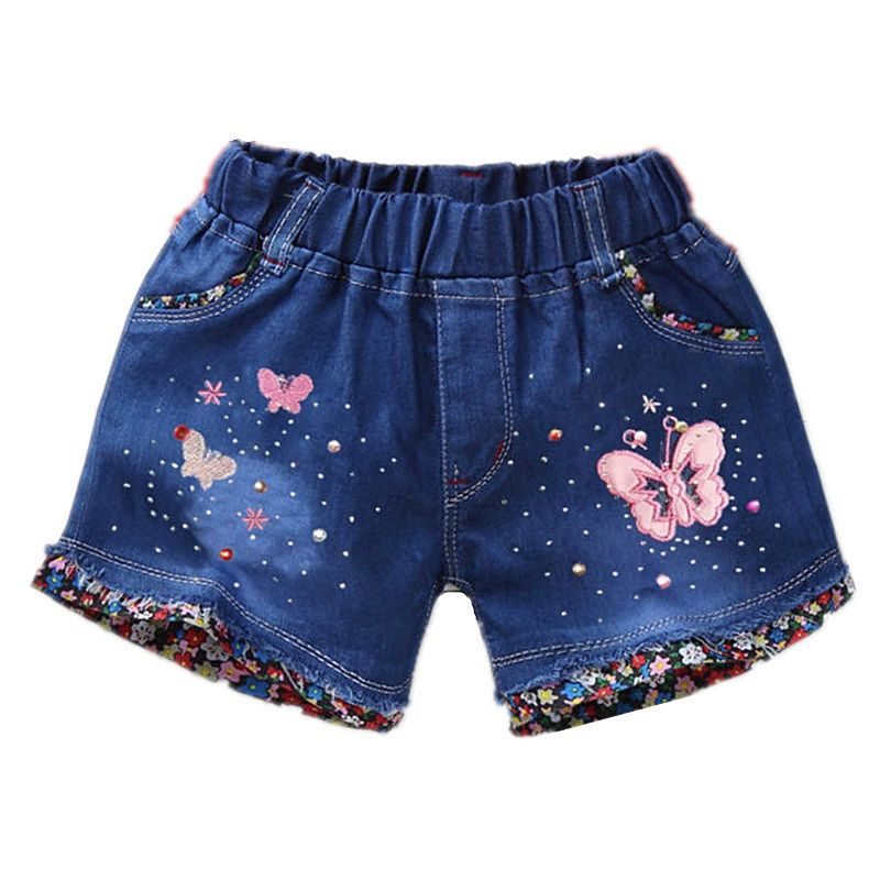 6731223f32 1-6T Baby Girls Jeans Shorts Summer Cute Butterfly Pants Denim Short Pants  Kids Clothes Children Clothing