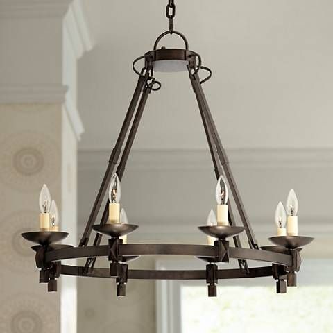 Balsimo 30 wide 8 light spanish traditional chandelier iron work balsimo 30 wide 8 light spanish traditional chandelier 7c885 lamps plus aloadofball Choice Image