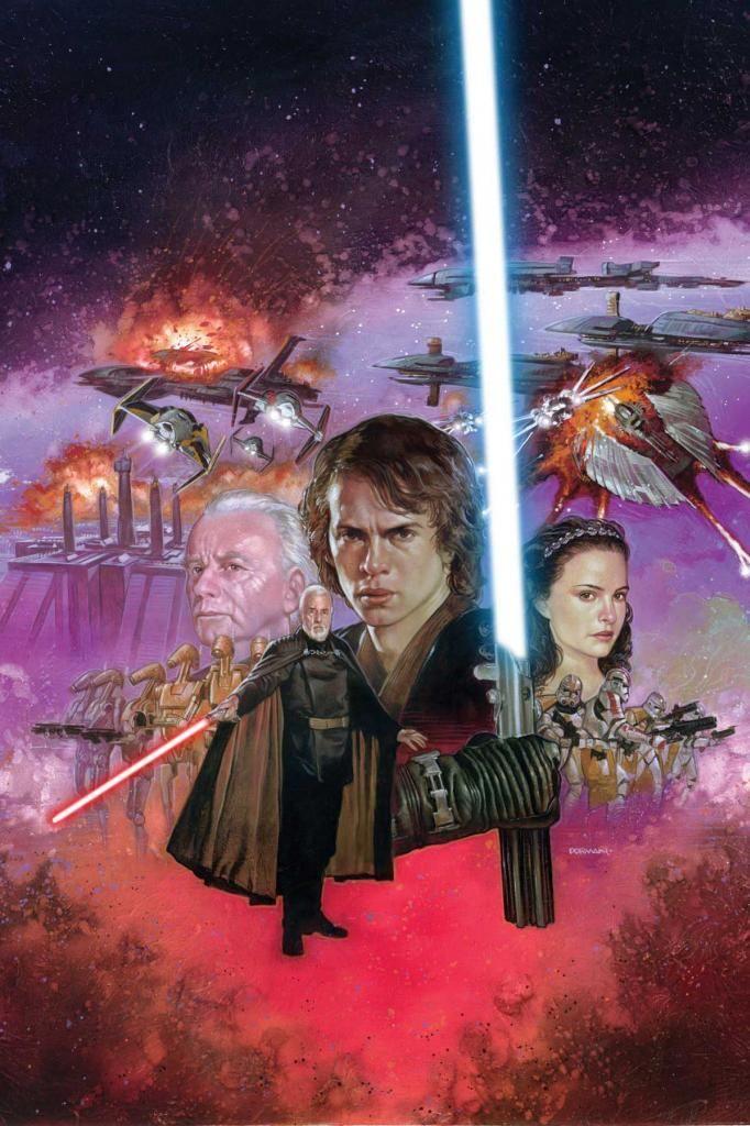 Cover Art For Star Wars Episode Iii Revenge Of The Sith 1 Star Wars Artwork Star Wars Art Star Wars Comics