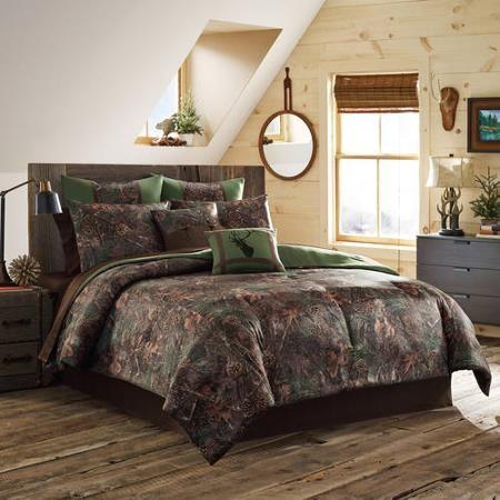 True Timber Mixed Pine Bedding Comforter Set Green Walmart Com