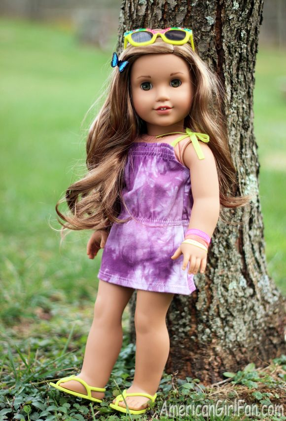American Girl Doll Leah Clark Doll Dress New