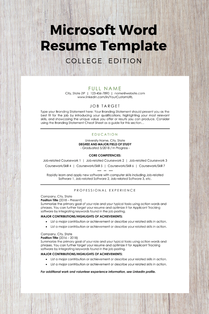 Microsoft Word Document Proven To Help College Graduates Students Pass Applicant Track Resume Template Microsoft Word Resume Template Microsoft Word Document