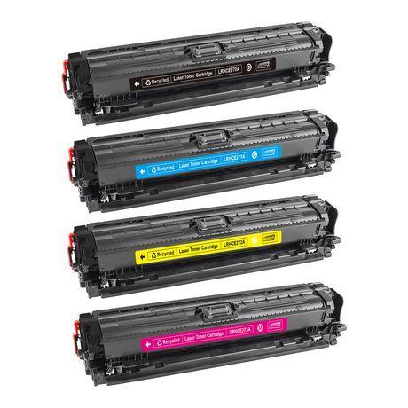 4PK Remanufactured Toner Cartridges for HP 650A CE270A CE271A CE272A CE273A