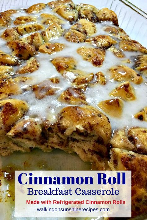 Easy Cinnamon Roll Breakfast Casserole and VIDEO
