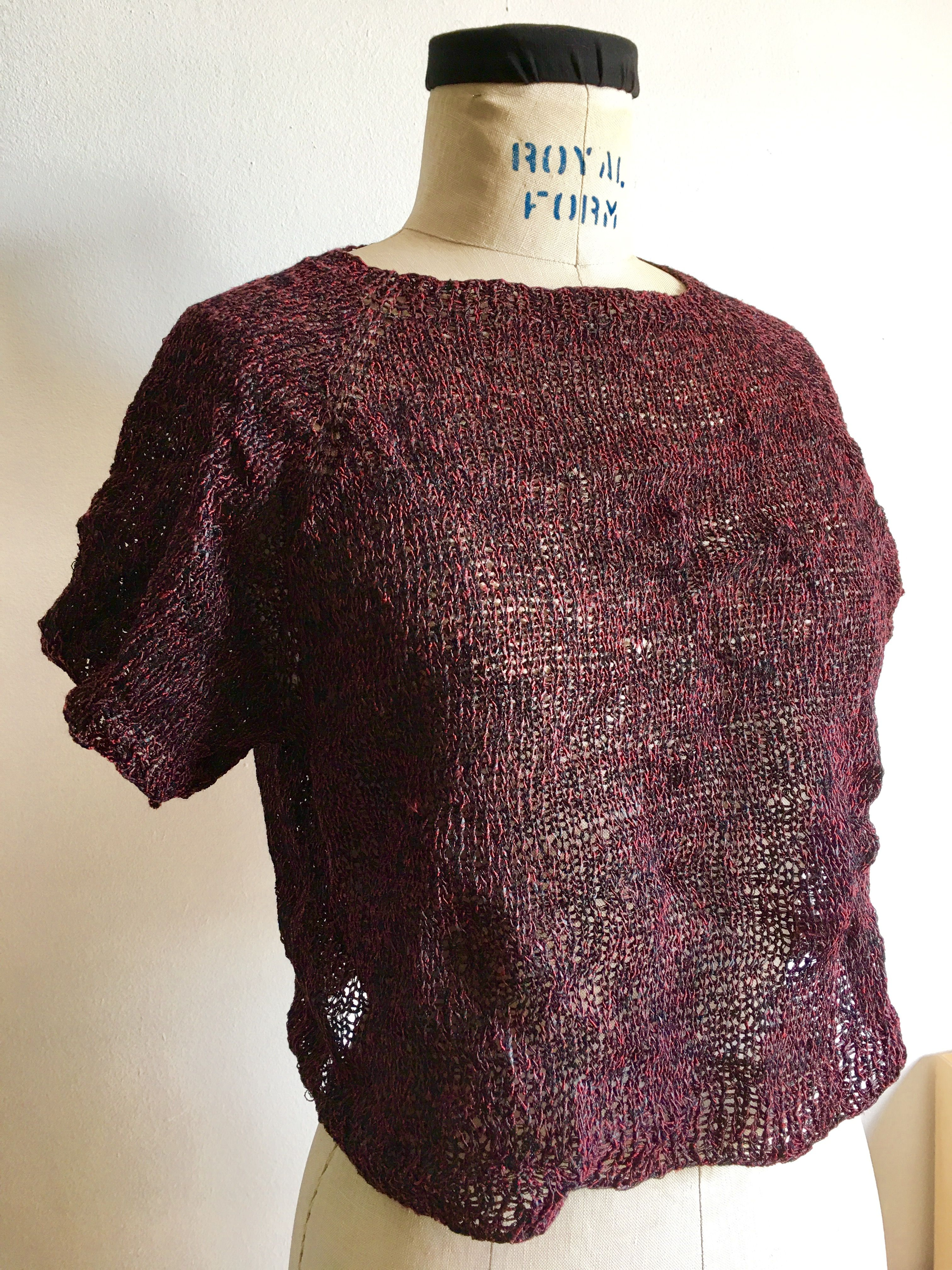 My hand knitting pattern using habu silk wrapped linen paper my hand knitting pattern using habu silk wrapped linen paper lion brands stainless steel wool bankloansurffo Gallery