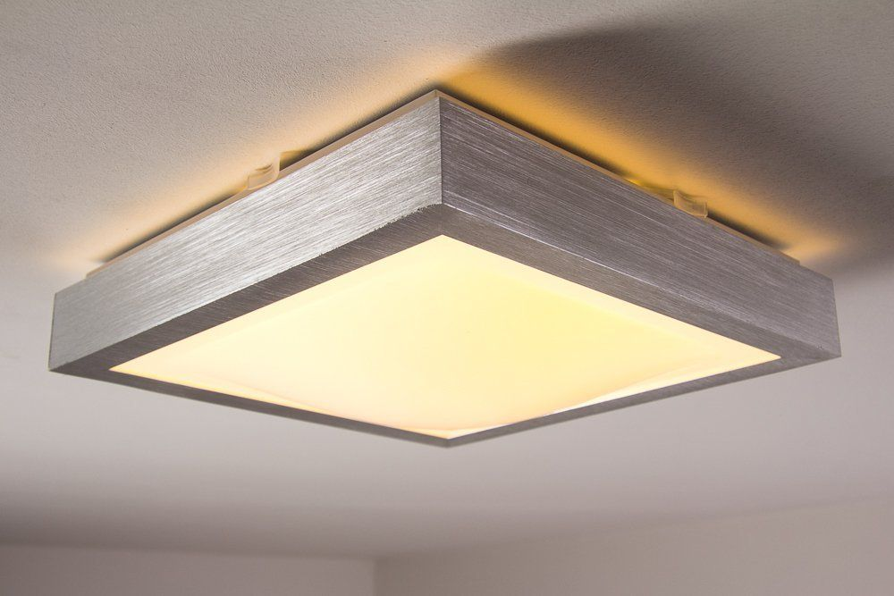 LED Deckenlampe Sora Eckig 880 Lumen 12 Watt 3000 Kelvin Warmweiss   IP44  Badezimmer Geeignet: