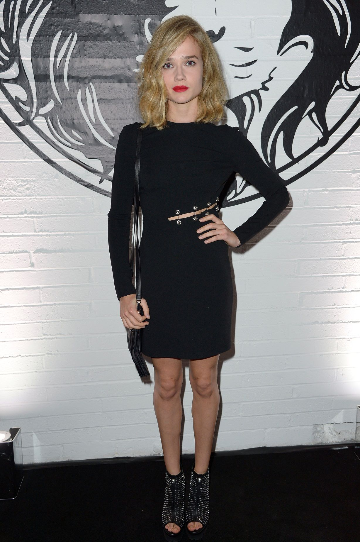 #VersusCelebrities - Florrie was flawless in a short leather #VersusVersace dress with Silver hardware. #VersusCalling