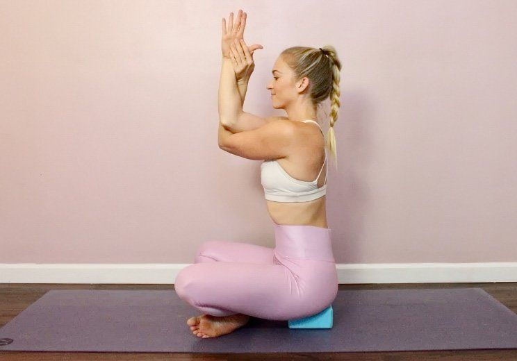 10 Energizing Yoga Stretches You Can Do In Bed Yoga Poses Gentle Yoga Frozen Shoulder Exercises