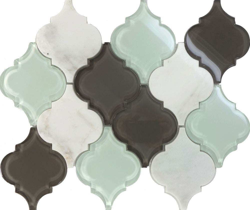 Details About Sample Glass Stone Arabesque Moroccan Pattern Mosaic Tile Kitchen Backsplash Spa