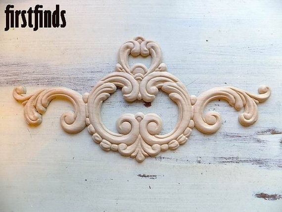 wood appliques for furniture. 1 Large Oyster Wood Applique Furniture Door Drawer By Firstfinds Appliques For