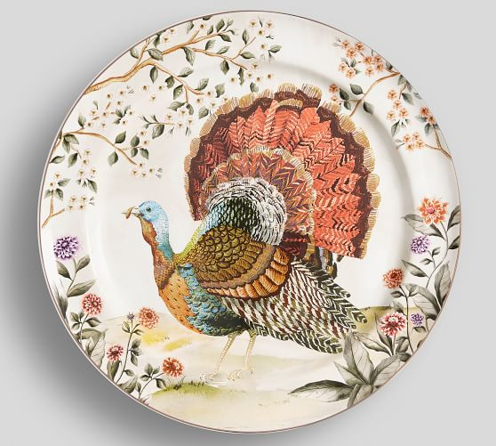Botanical Harvest Turkey Serving Platter With Images