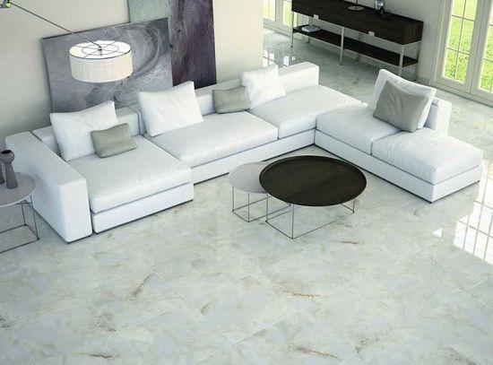 Tiles Design Living Room White Porcelain Tile Flooring Design Ideas  New Home  Great Room