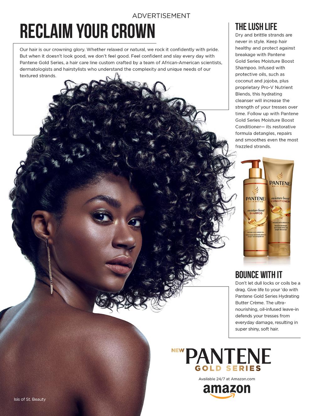Pantene/Ebony on Behance in 2020 Pantene gold series
