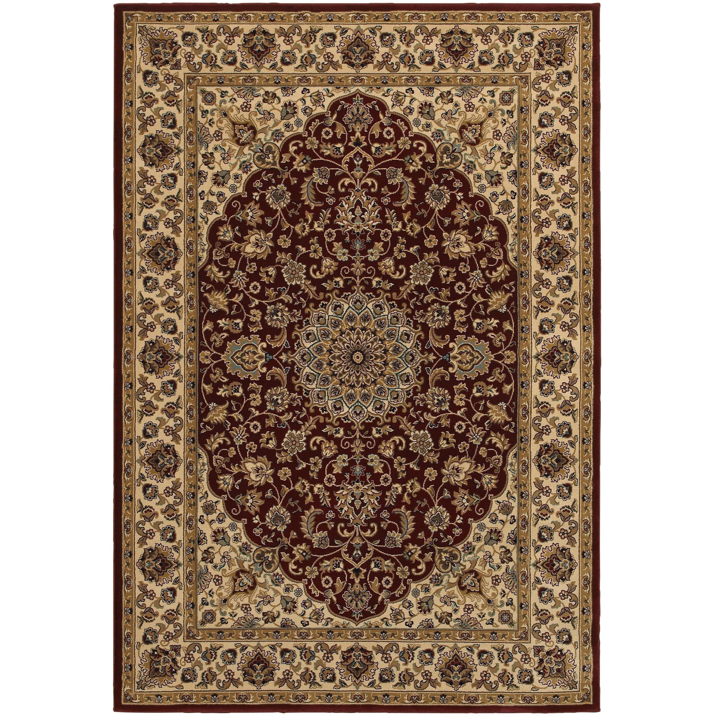 Rizzy Home Chateau Red Abstract Area Rug (6'7 x 9'6) (Red)