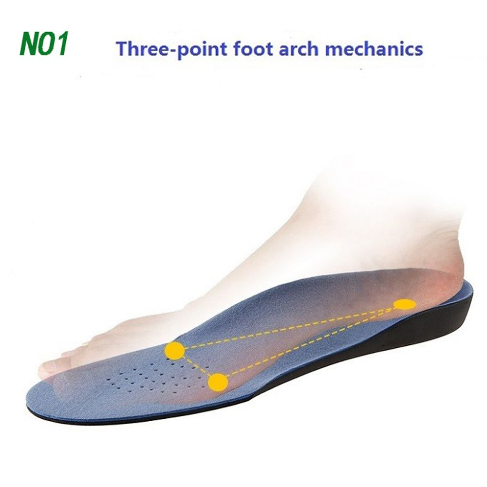 Pair Adult Flat Foot Arch Support Orthotics Orthopedic Insoles Foot