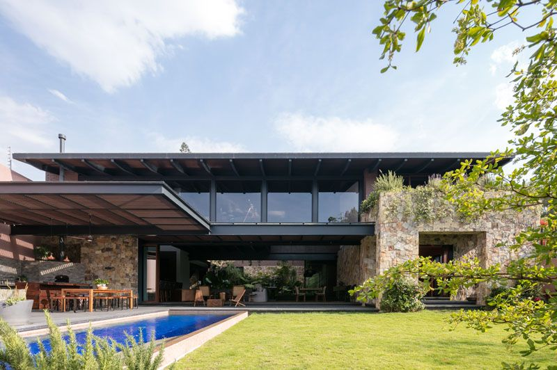 This contemporary house in mexico is surrounded by nature dream homes maison maison moderne - Maisons californiennes ...