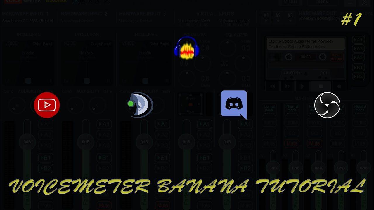 Voicemeeter Banana Tutorial #1 (OBS+TeamSpeak+Discord) (1PC