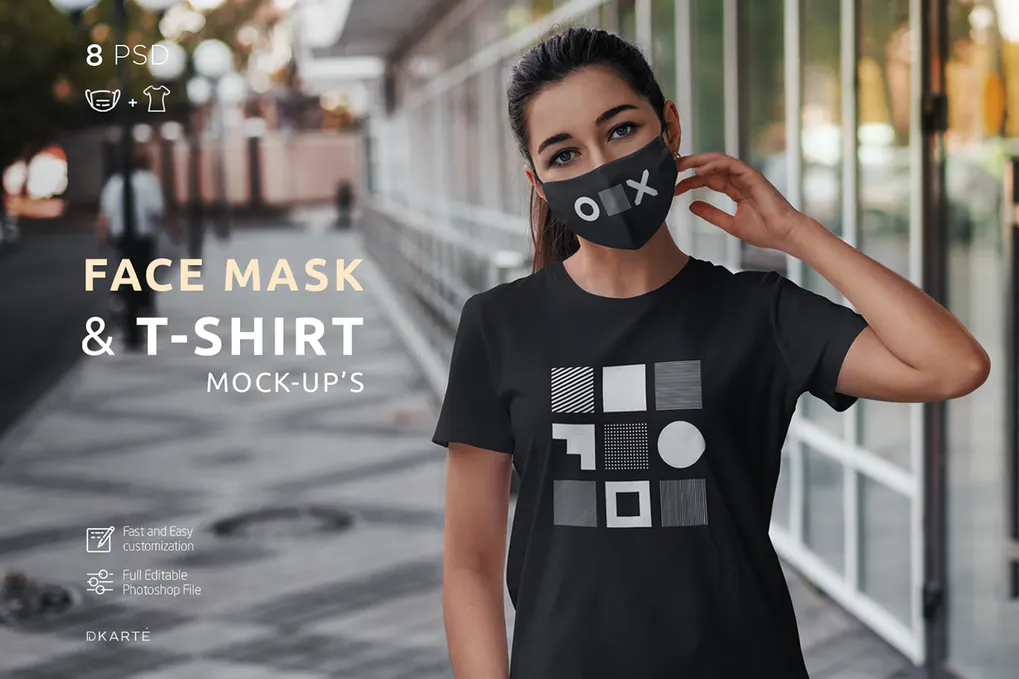 Download 25 Face Mask Mockup Templates For Photoshop Design With Red Fresh Face Mask Interesting Faces Mockup