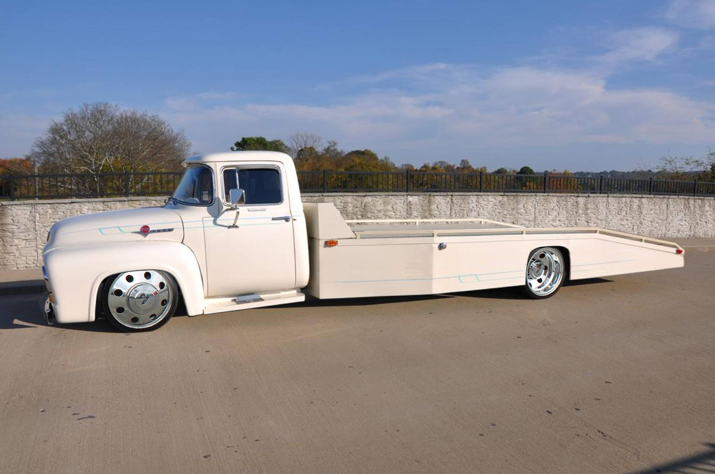 56 Ford F350 Car Hauler : big ford car - markmcfarlin.com