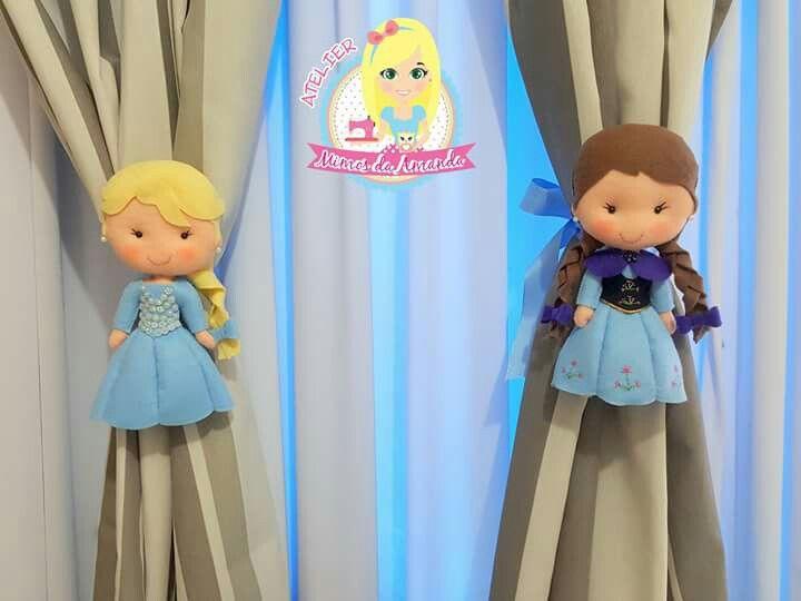 Prendedores de cortina frozen para el cuarto de las - Cortinas para cuarto ...