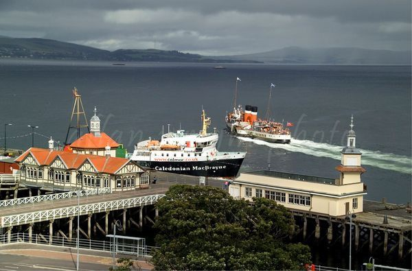 Dunoon Harbour, Scotland ..... Ferry arriving from Gourock .... Beautiful