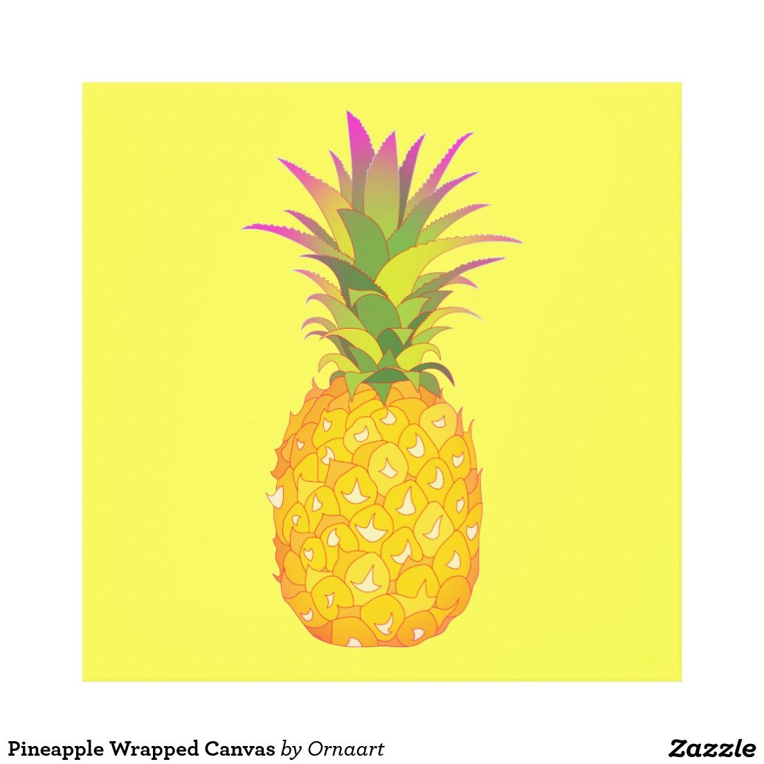 Pineapple Wrapped Canvas Canvas Print