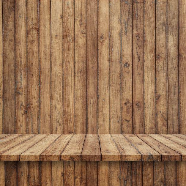 Suelo de tablas de madera con pared de madera foto gratis - Madera para paredes ...