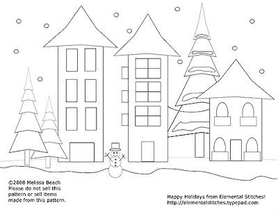 Free Pattern Snow City Free Pattern Embroidery And Patterns