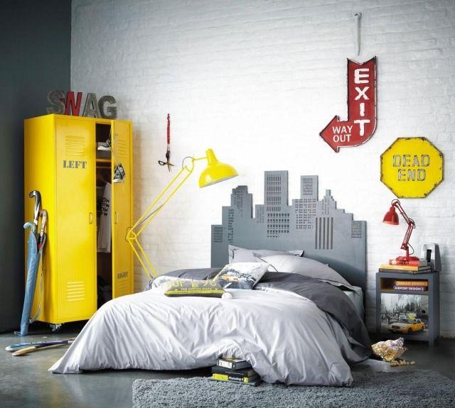 Déco chambre ado : murs en couleurs fraîches en 34 idées | Gris ...