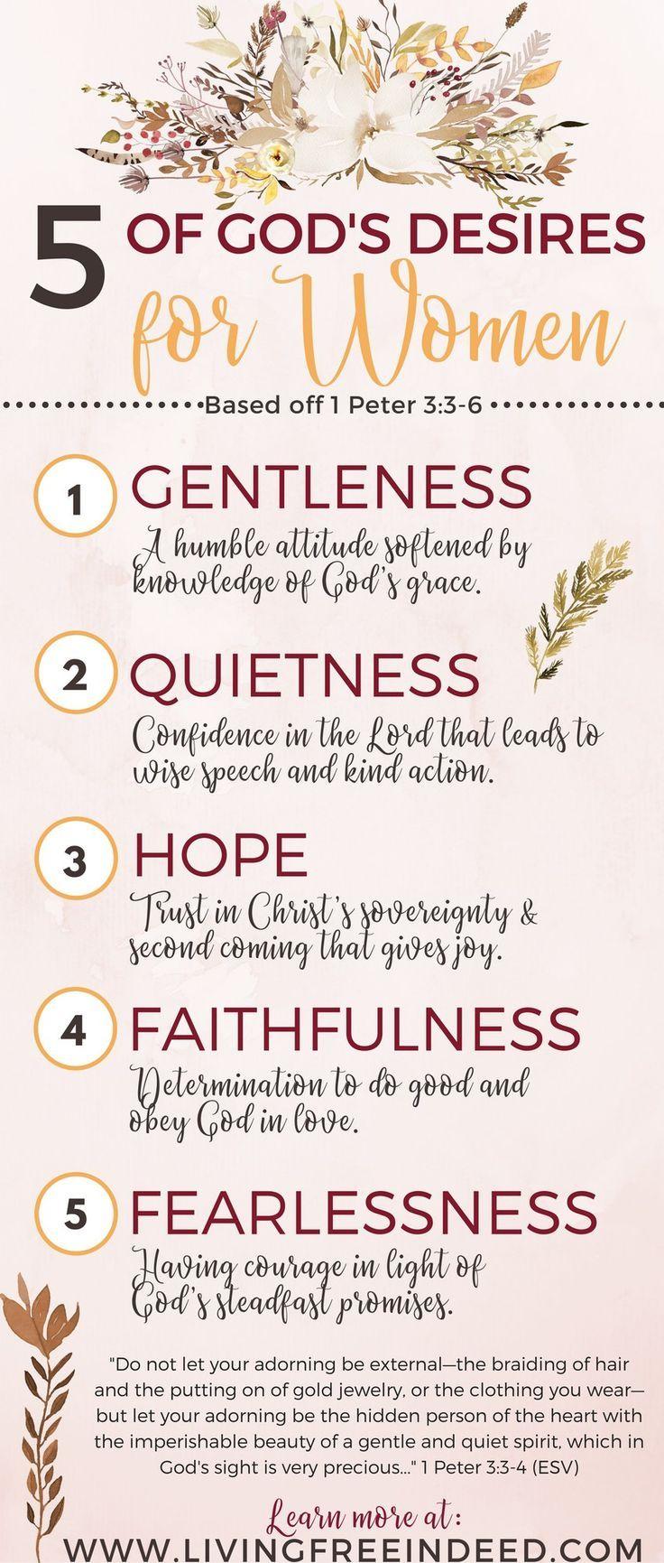 5 of God's Desires for Women
